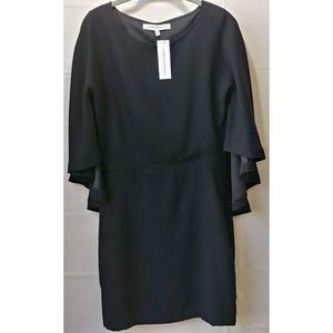 Cupcakes And Cashmere Jacey Black Cape Dress
